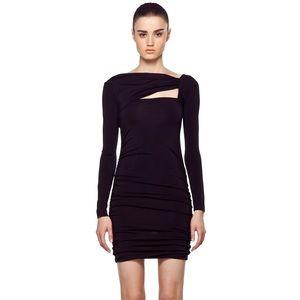 Pierre Balmain Black Cut Out Mini Dress